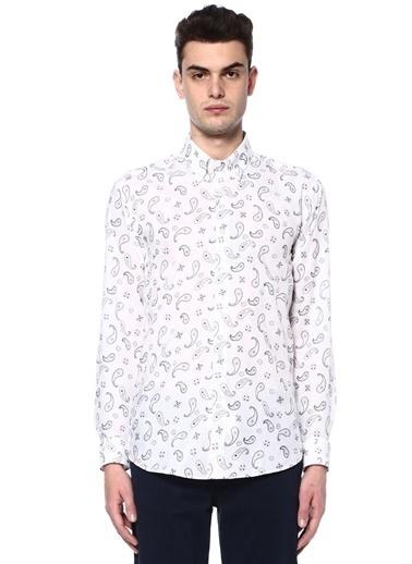 Etro Desenli Uzun Kollu Gömlek Beyaz